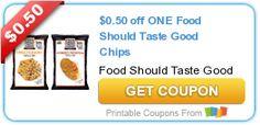 $0.50 off ONE Food Should Taste Good Chips