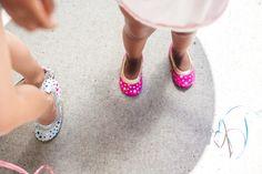 987add31dcde Yosi Samra Soft Leather Ballet Flats Violet Gold Star - (Size 6