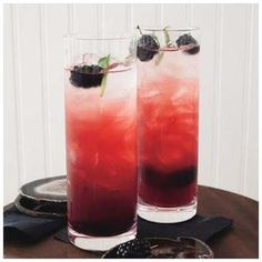 Blackberry-Sage Fizzes are a pretty flavor medley | http://www.rachaelraymag.com/Recipes/rachael-ray-magazine-recipe-search/drink-cocktail-recipes/blackberry-sage-fizzes