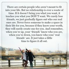 Lessons Learned in Life   Who are our real friends.