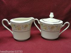 Blossom Time Creamer & Sugar w/Lid Set, no dimensions given. $22.95 at headhunter33733 on ebay, 5/17/15