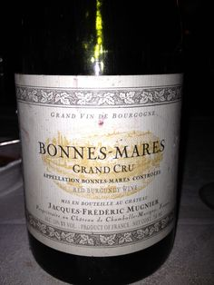 Bonnes-Mares, Grand Cru, Jacques Frederic Mugnier