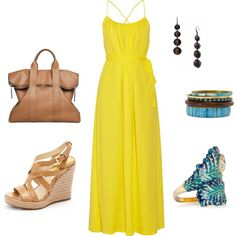 Spring is here....I love Maxi Dresses and Huge Designed Rings. I need a yellow maxi dress.