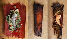 Shrimp cooked in eucalyptus bark with mountain spices (white fir, manzanita berries, etc...)