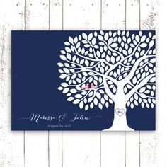 Guest Book Tree Wedding Guest Book by MooseberryPaperCo on Etsy