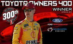 NASCAR Race Mom: 1-2 Ford Finish   Logano Takes Richmond!