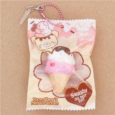 soft sponge squishies, Yummiibear's Mini Ice Cream, Creamiicandy, Dessert