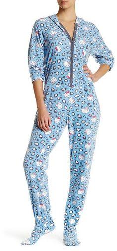 Hello Kitty Hooded Blue Animal Jumpsuit