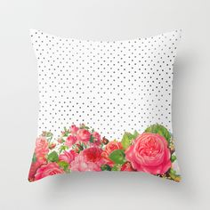 FAVORITE FLORAL Throw Pillow by Allyson Johnson - $20.00
