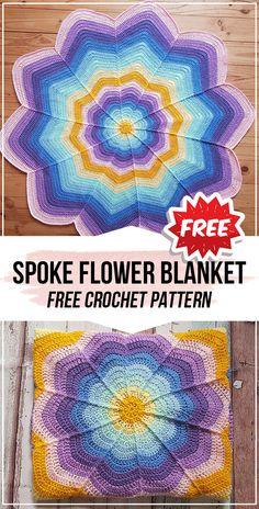 Latest Absolutely Free Crochet Blanket flower Strategies crochet Spoke Flower Blanket free pattern – easy crochet blanket pattern for beginners Crochet Star Blanket, Baby Afghan Crochet Patterns, Crochet For Beginners Blanket, Crochet Stars, Crochet Stitches, Crochet Baby, Crochet Flower, Crochet Afghans, Crochet Blankets