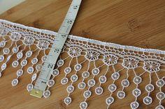 Cotton Lace Trim 1 yards Wedding,Home Decor,Scarf Fringe trim
