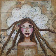 Shine Inspirational Art by Stanka Vukelić - LadyArtTalk   #art #inspiration