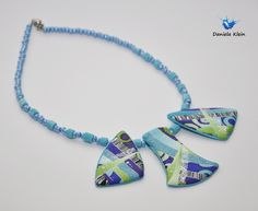 tyrkisnecklace | polymer clay necklace in blue colours | Daniela Klein | Flickr
