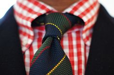 check your choice of tie because with a red gingham shirt I don't think this is a particularly good one ! Prep Style, My Style, Gingham Shirt, Red Gingham, Ivy League Style, Best Dressed Man, Suit And Tie, Gentleman Style, Fashion Stylist
