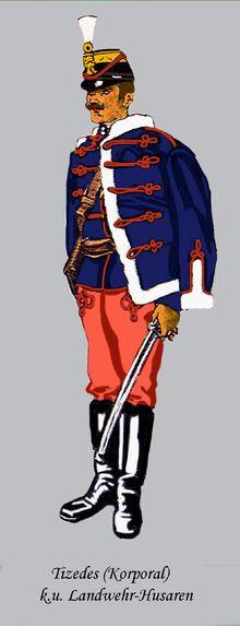 Royal Hungarian Honvéd - Corporal of a Hussar Regiment.