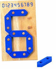 Voila Wooden Digital Numbers