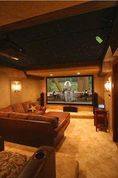 what a cool theater room