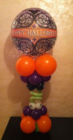 Halloween bubble balloon delivery by www.Total-Party.com.  Can be customized for your theme in any colors.