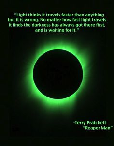 Light thinks it travels faster than anything but it is wrong