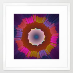 Colourful prismatic fractal abstract in the colors purple, pink, blue, orange...