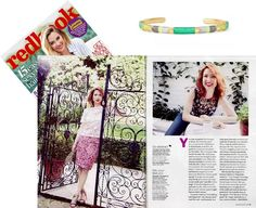 Have you tried our Lottie Necklace over a stripe? Actress Ellie Kemper looks gorgeous in this month's Redbook Magazine