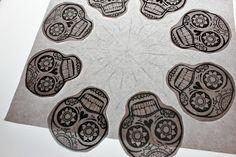 skull mandala idea - possible pattern for faux tile backsplash project