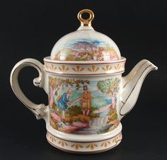 Sadler Wellington Sporting Scenes 18th Century FISHING Teapot