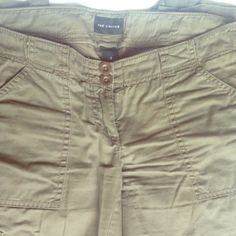 Limited wide leg olive cargo pants Gently worn, casual comfortable pant. The Limited Pants