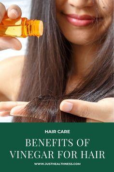 Benefits Of Vinegar For Hair Vinegar For Hair, Garlic Benefits, How To Lighten Hair, Home Remedies For Hair, Hair Rinse, Aromatic Herbs, Oily Hair, Hair Health, Diy Hairstyles