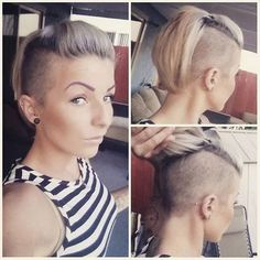 Frisur Ideen Undercut with lower back, Items such as artificial leis or other flowers can Short Hair Undercut, Undercut Hairstyles, Pixie Hairstyles, Pretty Hairstyles, Short Hair Cuts, Short Hair Styles, Corte Y Color, Haircut And Color, Shaved Hair
