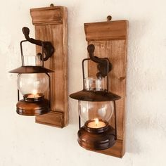 Candle Sconces, Wall Lights, Candles, Lighting, Interior, Home Decor, Log Projects, Pendant Chandelier, Wax