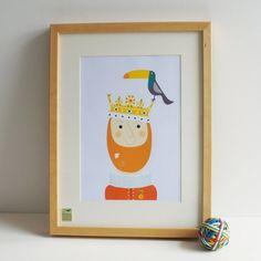 King Bertie (in white frame)
