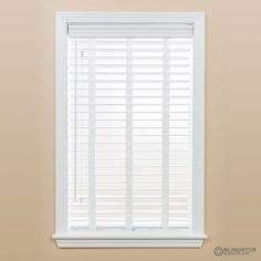 2in premium faux wood blind with cloth tapes and shade open