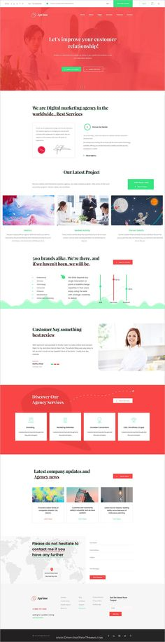 Aprime is clean and modern design PSD template for creative digital #agency website with 5 unique homepage layouts and 25 layered PSD pages to live preview & download click on Visit #psdmockups #websitedesign