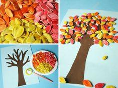 Fun fall crafts for kiddos Autumn Crafts, Fall Crafts For Kids, Autumn Art, Thanksgiving Crafts, Diy For Kids, Holiday Crafts, Fall Preschool, Preschool Crafts, Fun Crafts