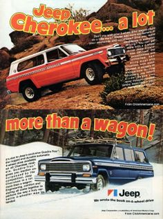 How can you not like these vintage ads? The question today is - do you prefer the old style Jeep Cherokee or 2014 style Jeep Cherokee?