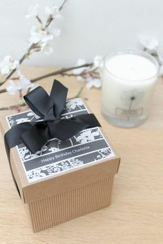 Scented,Candle,In,A,Personalised,Gift,Box,personalised gift, gift box, scented candle