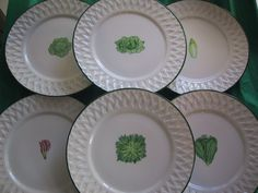 salads Fragile, Salads, Creations, Plates, Tableware, China Painting, Licence Plates, Dishes, Dinnerware