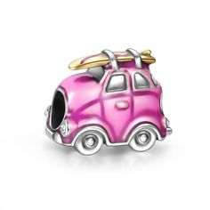 Travel Car Charm 925 Sterling Silver