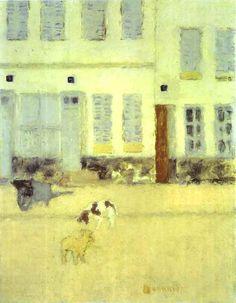 Pierre Bonnard - Street in Eragny-sur-Oise or Dogs in Eragny