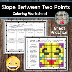 Slope Between Two Points Coloring Worksheet Math Coloring Worksheets, Mystery, Students, How To Apply, Messages, Learning, Pictures, Photos