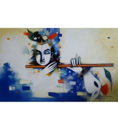 Krishna Modern Contemporary Paintings | Vijay Gille