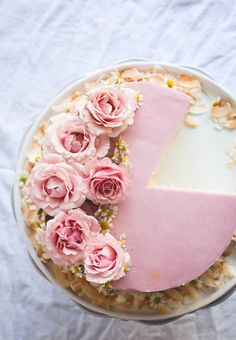 Lemon Cake with Haupia Filling & Hibiscus Buttercream - Butterlust
