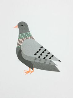 Pigeon,Print,by,Scout,Editions,Pigeon Print by Scout Editions