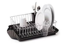 Sabatier Dish Rack Endearing Sabatier Expandable Dish Rack With Softtouch Coating  Dish Rack Design Ideas