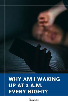 You woke up in the middle of the night, and even though you're exhausted, you just can't seem to settle back down. Why did you wake up at 3 a.m.? We asked three sleep experts to solve the mystery. #sleep #hygiene #tips Waking Up At 3am, Wake Me Up, How To Fall Asleep Quickly, Stages Of Sleep, Rem Sleep, 3 Am, Anxiety Panic Attacks, Good Health Tips, Trying To Sleep