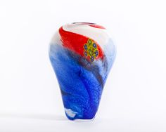 Vidrio de Murano/ Azul y Rojo Vintage Murano glass  Blue and Red