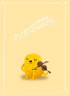 Jake and his viola! Adventure Time