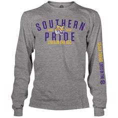 Weezabi LSU Tigers SEC on ESPN Long Sleeve Southern Pride T-Shirt medium