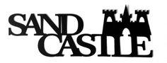 Sand Castle Scrapbooking Laser Cut Title with castle